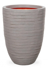 Кашпо capi nature row nl vase vase elegant low grey d44 h56 см