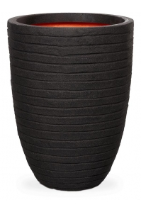 Кашпо capi nature row nl vase vase elegant low black d35 h47 см