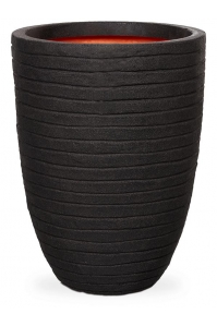 Кашпо capi nature row nl vase vase elegant low black d44 h56 см