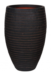 Кашпо capi nature row nl vase elegant deluxe dark brown d40 h60 см