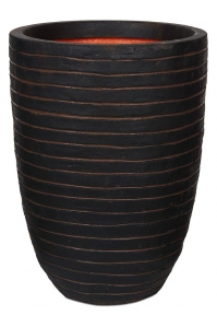 Кашпо capi nature row nl vase elegant low dark brown d36 h47 см