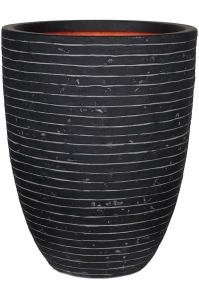 Кашпо capi nature row nl vase elegant low anthracite d36 h47 см