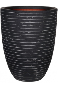 Кашпо capi nature row nl vase elegant low anthracite d46 h58 см