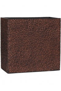 Кашпо capi nature wood planter rect. high ii brown l14 w26 h24 см