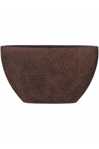 Кашпо capi nature wood planter oval i brown l59 w14 h35 см