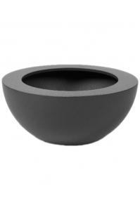 Кашпо cascara plus ral 9007 aluminum-grey structure d40 h20 см