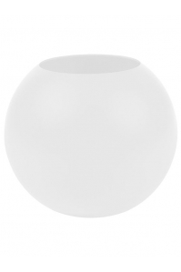 Кашпо cascara ball ral 9010 white high shine d40 h36 см