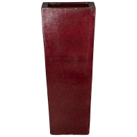 Кашпо classic red kubis l36 w36 h90 см