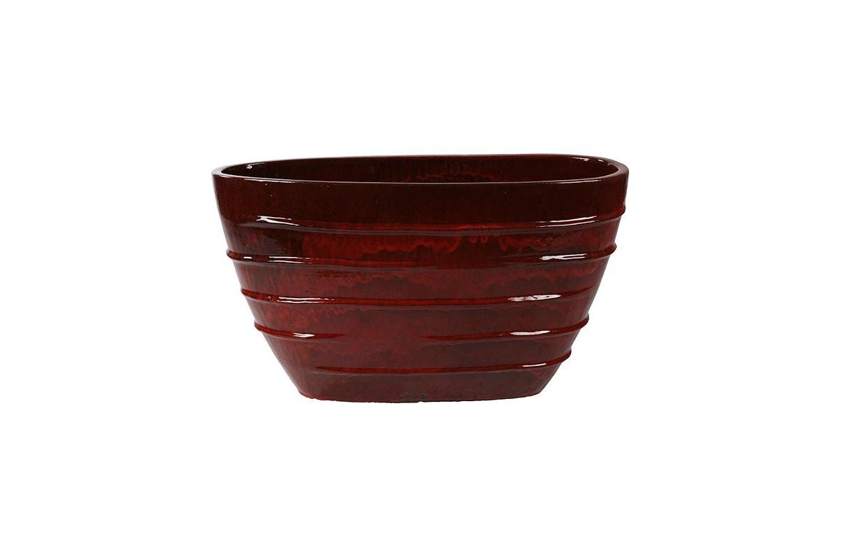 Кашпо classic red oval (beauty) d90 l35 h50 см