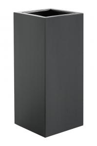 Кашпо argento high cube anthracite l35 w35 h80 см