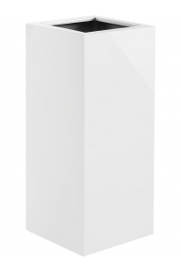 Кашпо argento high cube shiny white l35 w35 h80 см