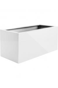 Кашпо argento box shiny white l150 w50 h50 см