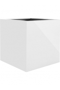 Кашпо argento cube shiny white l80 w80 h80 см