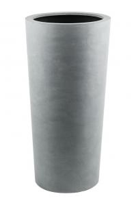 Кашпо argento vase natural grey d36 h68 см
