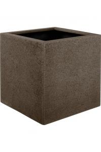 Кашпо struttura cube light brown l20 w20 h20 см