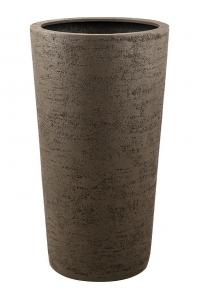 Кашпо struttura vase light brown d57 h110 см