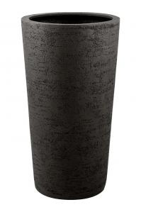 Кашпо struttura vase dark brown d57 h110 см