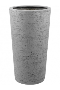 Кашпо struttura vase light grey d57 h110 см