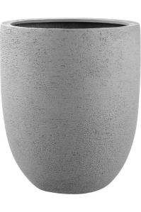 Кашпо struttura tall egg light grey d88 h103 см
