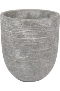 Кашпо d&m indoor pot rough gray (per 4 pcs.) d18 h21 см