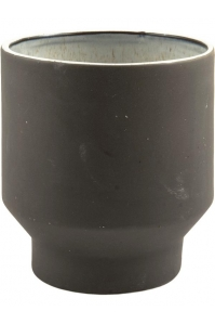 Кашпо d&m indoor pot first black (per 4 pcs.) d14 h15 см