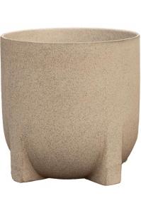 Кашпо d&m indoor pot humble light gray d21 h21 см