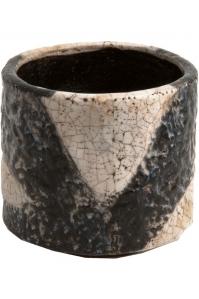 Кашпо d&m indoor pot fracture cream (per 2 pcs.) d21 h20 см