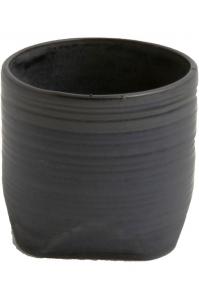 Кашпо d&m indoor pot chop midnight (per 4 pcs.) d16 h15 см