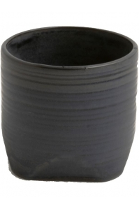Кашпо d&m indoor pot chop midnight (per 3 pcs.) d20 h19 см