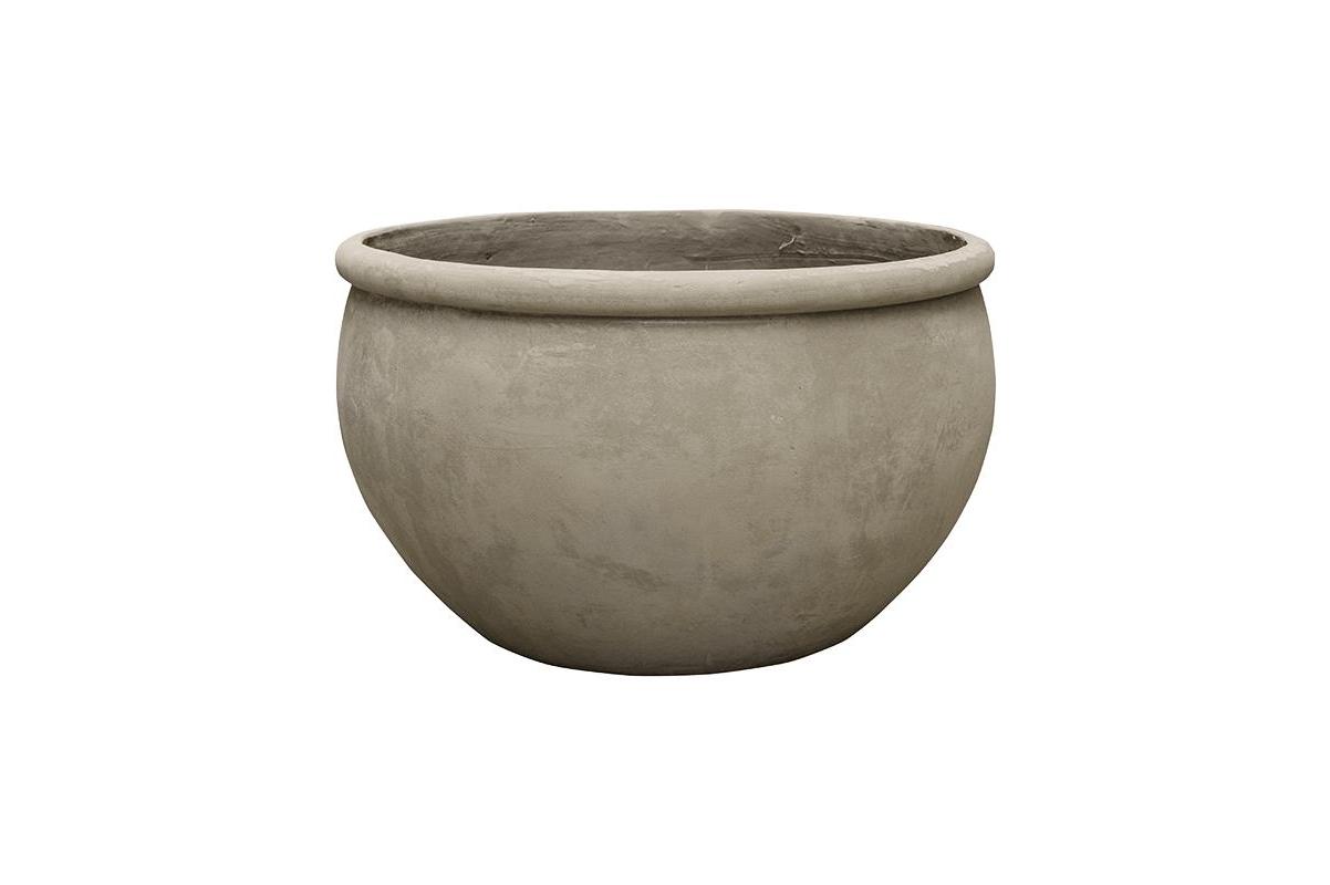 Кашпо empire (grc) bowl grey d73 h43 см