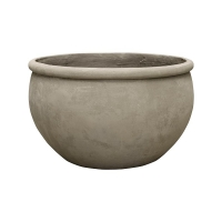 Кашпо empire (grc) bowl grey d73 h43 см