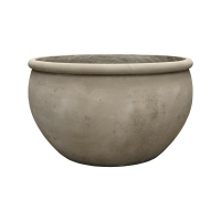 Кашпо empire (grc) bowl grey d93 h54 см