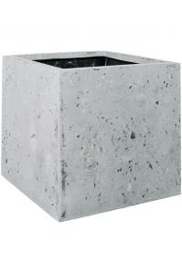 Кашпо square grey l40 w40 h40 см