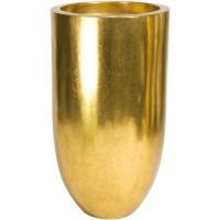Кашпо pandora gold leaf d50 h90 см