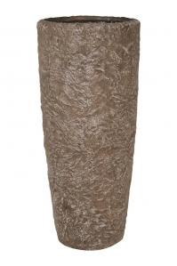 Кашпо rocky sepia granite d35 h79 см