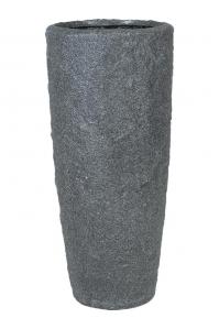 Кашпо rocky smoke granite d35 h79 см