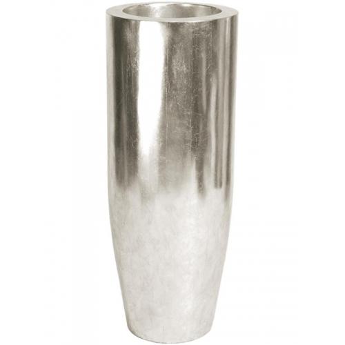 Кашпо pandora silver leaf d35 h90 см