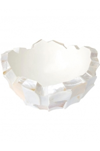 Кашпо shell mother of pearl white d40 h24 см