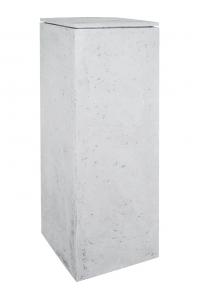 Кашпо style grey l33 w33 h70 см