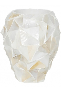 Кашпо shell orchid planter white mother of pearl d17 h24 см