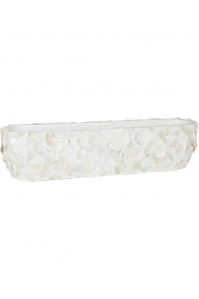 Кашпо shell table top planter white mother of pearl l90 w20 h20 см