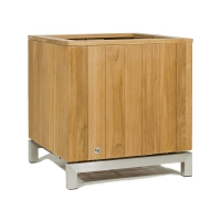 Кашпо kayu planter natural teak l60 w60 h60 см