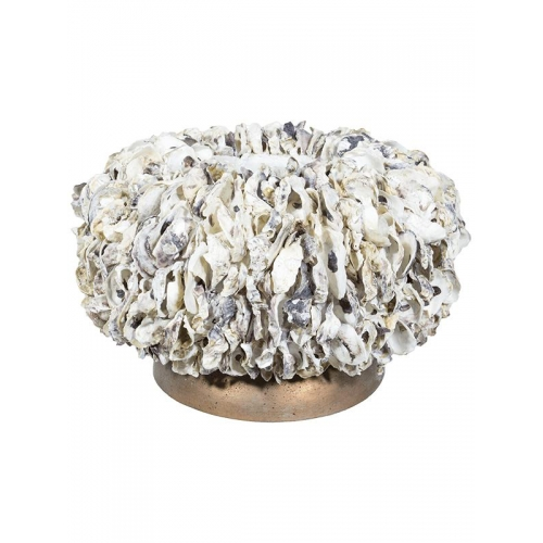 Кашпо shell oyster bowl white shell d50 h30 см
