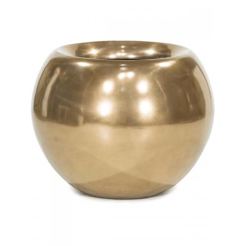 Кашпо glory ball bronze d60 h50 см
