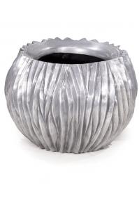 Кашпо river aluminium d45 h35 см