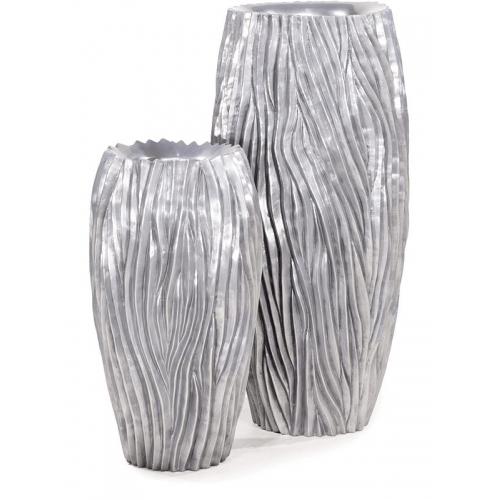 Кашпо river aluminium d45 h100 см