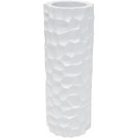 Кашпо mosaic column glossy white d32 h90 см