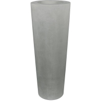 Кашпо conical planter grey d48 h110 см