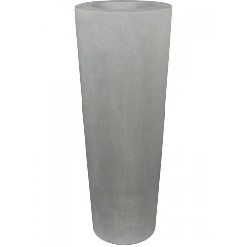 Кашпо conical planter grey d48 h110 см