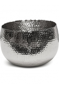 Чаша taza bowl polished aluminium d28 h19 см